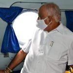 CM Yediyurappa conducts aerial survey of flood hit Vijayapura, Kalaburagi districts