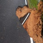 Road caves in at Chamundi Hill! District minister directs DC to take up repair works on warfooting speed