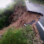 Heavy rains in Mysuru! A part of road atop Chamundi Hill caves in